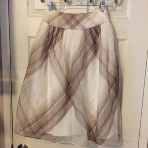 Talbots A-Line Silk Knee Length Skirt Sz 2